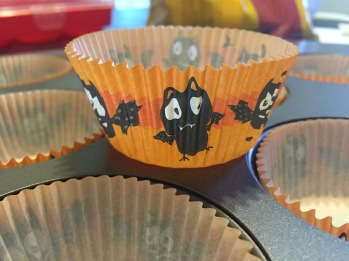 The cute cupcake liners I used, picked them up last year on clearance after Halloween ~~